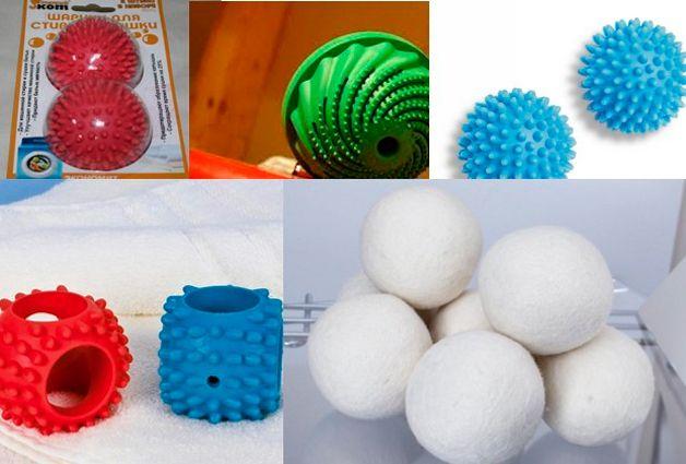 Виды мячиков для стирки